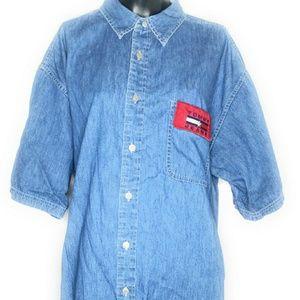 VTG Tommy Hilfiger Jeans Denim Cotton Button-Up